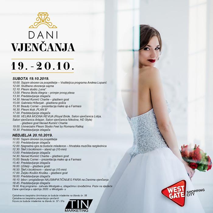 dani vjenčanja westgate 2019 program